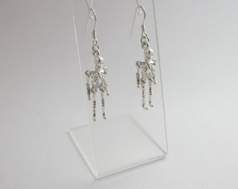 Sterling silver articulated skeleton earrings READY TO SHIP