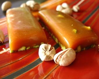 Pistachio Cardamom Honey Caramel