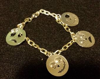 Silver Zombie Charm Bracelet