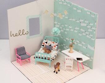 DIY Dollhouse room Kit