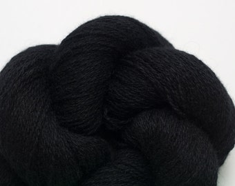 Black Cat Cashmere Lace Weight Recycled Yarn, 237 Yards Available