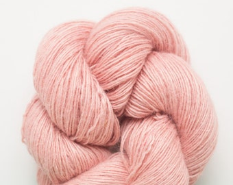Soft Pink Silk Angora Nylon Recycled Fingering Weight Yarn