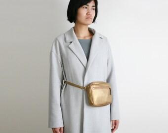 Belt Bag Bronze, cross body zip bag, fanny pack, hip bag, hip pouch, travel bag. multifunctional bag