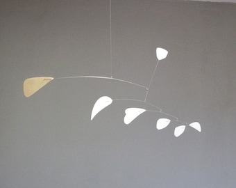 Abstract Brass and White Metal Mobile.