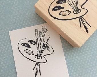 Artist Pallet Rubber Stamp 2310