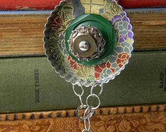 Upcycled Ornament - Round (Origami) - Cookie Cutter Ornament - Hanging Decor by Jen Hardwick