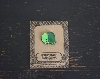 turtle pin, turtle enamel pin, turtle lapel pin, cute enamel pin, stocking stuffer, animal pin