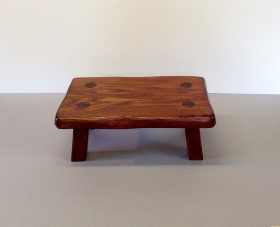 Rustic Oak Footsool Solid Wood Step Stool Bedroom
