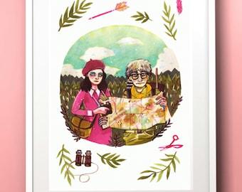 Wes Anderson: Moonrise Kingdom - Sam & Suzy A4 Print
