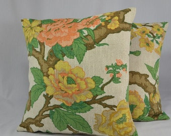 """Vintage Pillow Cover, Cushion Cover, Throw Pillow, Decorative Pillow, Home Decor Pillow, Vintage Home Decor - One 16"""" Pillow - PC7"""