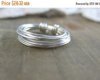 VALENTINE Sale The Messy Minimalist-Sterling Silver Wire Wrapped Ring- Custom Made- Made to Order- Custom Size