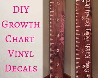 Growth Chart Vinyl Decals - Growth Chart - Growth Chart Ruler - Growth Chart Vinyl - Growth Chart Ruler Decal