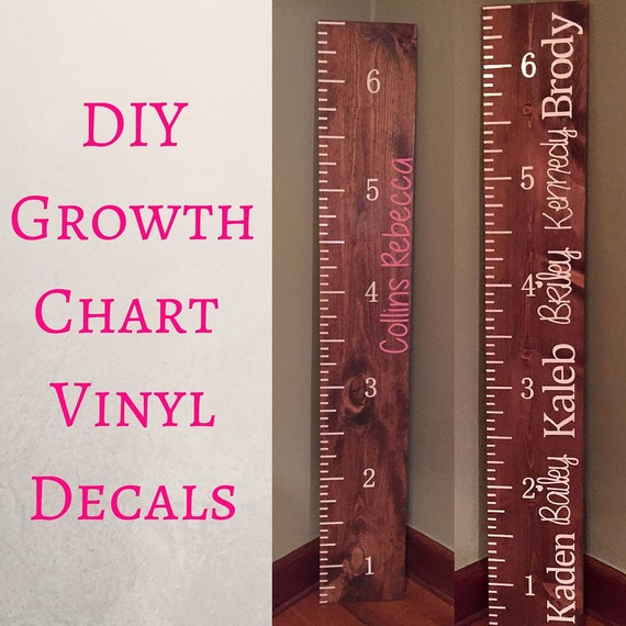 Growth Chart Vinyl Decals Growth Chart Growth Chart Ruler - Ruler growth chart vinyl decal