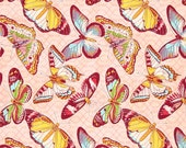 Michael Miller - Aflutter in Pink - Emma's Garden Collection - By The Yard