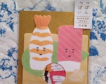 NEW 50 washi style sticker flakes Japanese Sushi