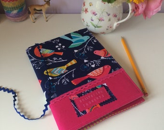 A5 journal cover - birds