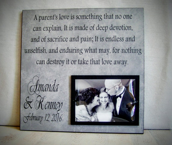Wedding Thank You Gift for Parents, 12x12 Parent of the Bride Thank ...