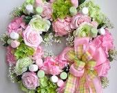 Spring Wreath, Valentine Wreath,  Mother's Day Wreath, Pastel Wreath, Summer Wreath, Easter Wreath, Marshmallow Wreath