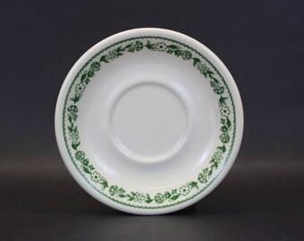 Vintage One Buffalo China Green Floral Saucer (E4643)