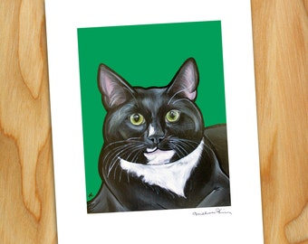 "8x10 Signed Print of ""Kato"" the Tuxedo Cat"