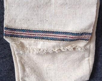 Vintage woven wool tote bag purse