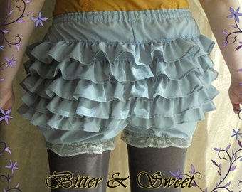 Gray short bloomers xs-s-m-l-xl-xxl-Lolita-Steampunk-1940 USO-Wester-Old West-Saloon Girls-Victorian Pants- Bitter&Sweet-
