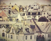 Alesund, Norway, Photography Print, Shale Rooftops, European Buildings, Architecture, Home Decor, Travel, Scandinavia, 6x9 + More Sizes