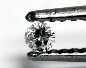 Bright Round Brilliant Cut Diamond, 2.3 MM, .045 Carat, SI 1, White, Below Wholesale, 1 Only