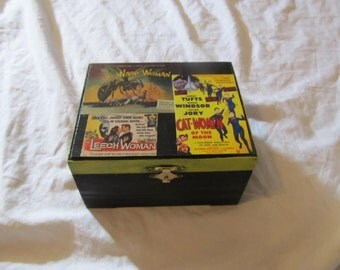 Women of Sci Fi  Keepsake Box The Wasp Woman Cat Women Of The Moon The Leech Woman