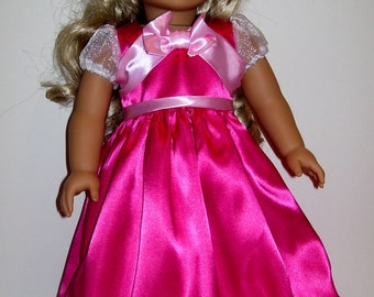 Pink Cinderella dress for American Girl and similar 18 inch dolls