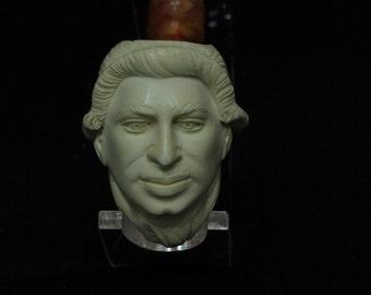 George Washington Bust Meerschaum Pipe Christmas Birthday gift Free hand 8722 Fathers Day