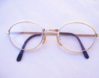 Vintage Gold Metal Female Wire Eyeglass Frames