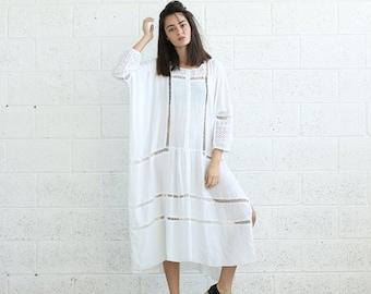 Summer SALE SALE!Breeze Kaftan Dress, White
