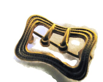 Victorian Gold Filled small buckle brooch / pin c - catch
