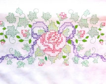 Cross Stitch Kit, 2 Large Pillow Cases for Cross Stitching