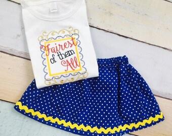 Snow White Shirt- Skirt and Shirt Set- Disney Outfit- Fairest of Them All- Waistin Away- Appliqué Shirt