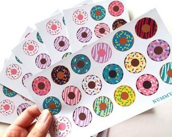 Donut Sticker Art Sheet