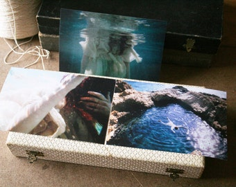 Medusa Series in vintage coffret- Three 10x15cm matte prints titled and signed