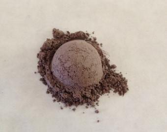 DARK EGGPLANT Eye Shadow Organic Mineral Matte Eye Shadow Dusty dark violet Vegan All Natural Pure Handmade