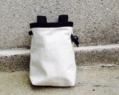 chalk bag, blank canvas DREAM IT UP rock climbing chalk bag --made to order.