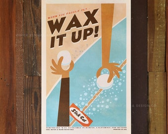 Wax it Up - 12 x 18 Retro Hawaii Travel Print