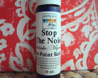 Stop The Noise - Headache & Tension Pulse Point Roll-on - 100% Organic Essential Oils, Stress Reducing, Head Clearing, Headache Relief, 10ml