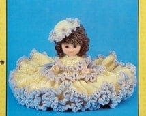 """20%OFF Td Creations SHANNON 13"""" Bed Doll - Crochet Doll Dress Clothes Clothing Pattern"""