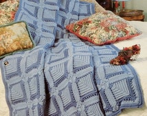 20%OFF The Needlecraft Shop BLUE ILLUSION By Jane Pearson - Crochet Afghan Collector's Series Pattern