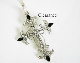 Cross Keychain, Cross Key Chain, Cross Keyring, Cross Key Ring, Cross Charm, Cross Gifts, Cross Gift, Religious Cross, Religious Gift