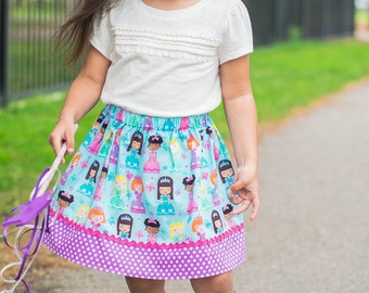 Princess Perfect  skirt ( 2T, 3T, 4T, 5, 6, 7, 8, 10)