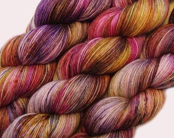 hand dyed yarn LA REINA pick your base - sw merino bfl silk nylon stellina fingering dk