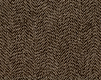 Woven Herringbone Multi-Purpose Upholstery Fabric - Slight Sheen like silk - Durable and Washable - Color:  Buff - per yard