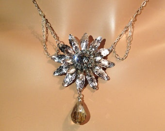The Snow Queen Necklace and Earring Set