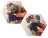Mini Elephant - Made to Order - hand crocheted - collectible crochet